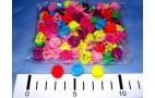 Заколка - крабик д/волос, 1см. об455  /уп-100шт/- цв.mix