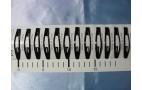 """Зажим д/волос """"Классика УЛЫБКА С НАДПИСЬЮ"""" металл черный 6см/1/12  21"""