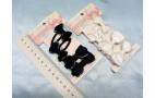 "Набор на блистере ""Бантик""- (2зажима+ 2резинки) - мет/ткань"