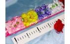 """Уточка для волос """"Цветок с розами+ленточки"""" цв.микс 1шт/10"""