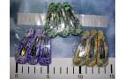 Набор зажимов на блистере, пластик, 6см (3шт.) - цв. микс /карта-1наб*12/ (7б)